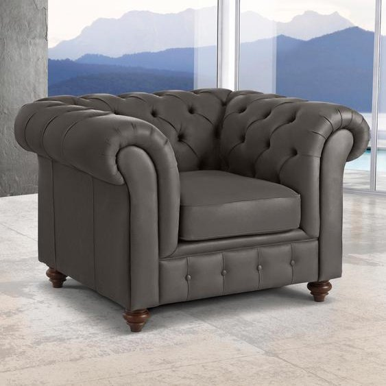Premium collection by Home affaire Sessel Chesterfield NaturLEDER®, B/H/T: 105 cm x 74 89 braun
