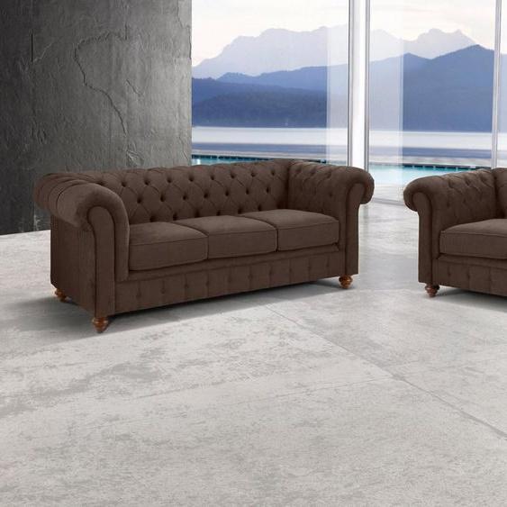 Premium collection by Home affaire Sitzgruppe »Chesterfield«, (2-tlg), Bestehend aus 2- und 3-Sitzer