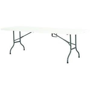 Premium Event Klapptisch 244cm weiß mit zusammenklappbarer Tischplatte - INTEROUGE