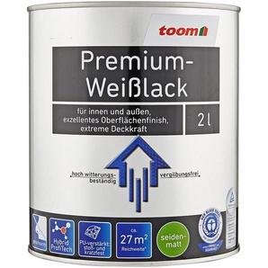 Premium-Weißlack seidenmatt 2000 ml