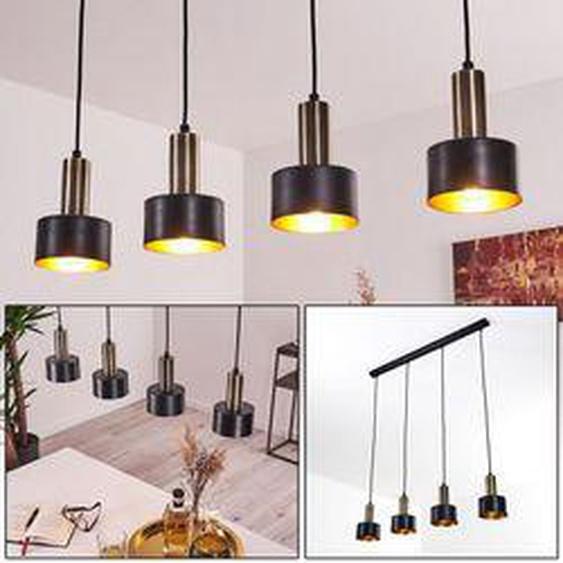 Pretoria Pendelleuchte LED Messing, Schwarz, 4-flammig - Modern - Innenbereich - versandfertig innerhalb von 4-8 Werktagen