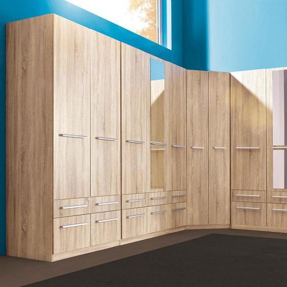 priess Eckkleiderschrank Barcelona B/H/T: 78 cm x 193 cm, Tiefe Seitenteil 36 ohne Beleuchtung beige Eckschränke Kleiderschränke