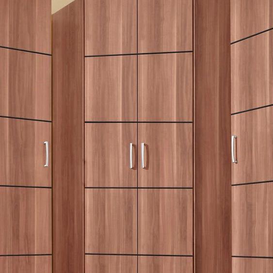 priess Eckkleiderschrank Bilbao H/T: 193 cm x 36 cm, mit Aufleistungen braun Eckschränke Kleiderschränke