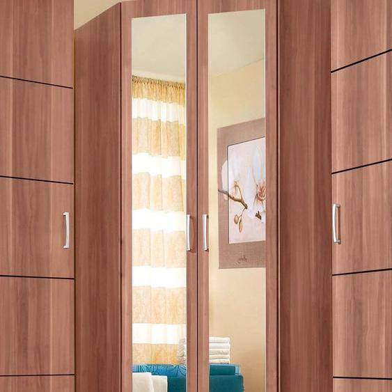priess Eckkleiderschrank Bilbao H/T: 193 cm x 54 cm, mit Spiegeltüren braun Kleiderschränke Schränke Nachhaltige Möbel