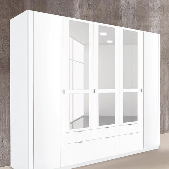 priess Kleiderschrank, mit gerundeten Elementen auf den Außentüren 230 x 193 54 (B H T) cm, 5-türig weiß Drehtürenschränke Kleiderschränke Schränke