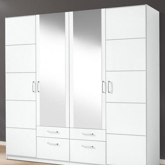 priess Kleiderschrank Bilbao 185 x 193 54 (B H T) cm, 4-türig, mit Aufleistung weiß Drehtürenschränke Kleiderschränke Schränke