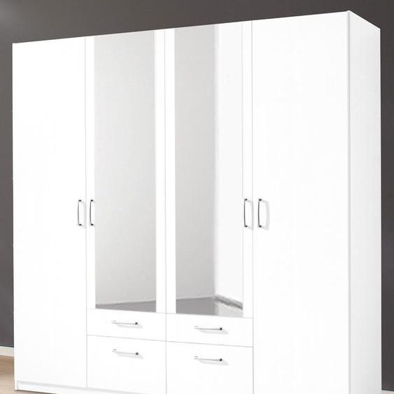 priess Kleiderschrank Bilbao 185 x 193 54 (B H T) cm, 4-türig, ohne Aufleistung weiß Drehtürenschränke Kleiderschränke Schränke