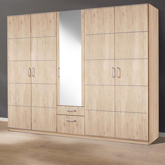 priess Kleiderschrank Bilbao 230 x 193 54 (B H T) cm, 5-türig, mit Aufleistung beige Drehtürenschränke Kleiderschränke Schränke