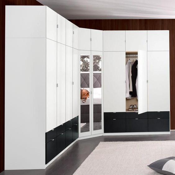 priess Kleiderschrank Freiburg B/H/T: 140 cm x 217 54 cm, 6 weiß Drehtürenschränke Kleiderschränke