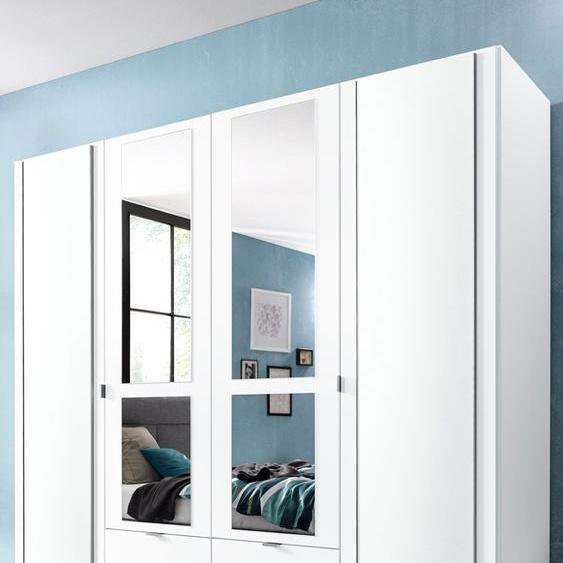 priess Kleiderschrank, mit gerundeten Elementen auf den Außentüren B/H/T: 185 cm x 193 54 cm, 4 weiß Drehtürenschränke Kleiderschränke Kleiderschrank