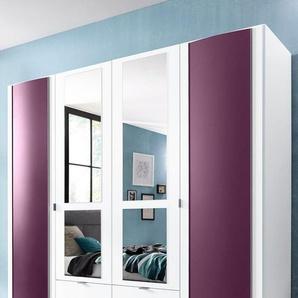 priess Kleiderschrank mit gerundeten Elementen auf den Außentüren