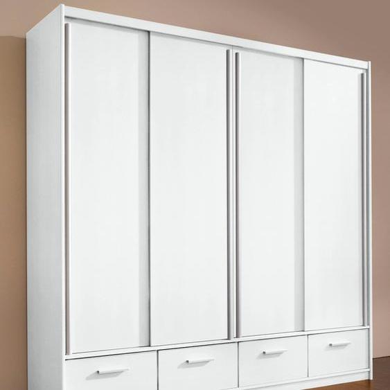 priess Schiebetürenschrank B/H/T: 190 cm x 200 57 cm, ohne Spiegel, 4 weiß Schiebetürenschränke Kleiderschränke
