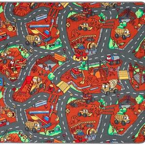 Primaflor-Ideen in Textil Kinderteppich BAUSTELLE, rechteckig, 5 mm Höhe, Straßen-Spielteppich, Kinderzimmer B/L: 200 cm x 300 cm, 1 St. bunt Kinder Bunte Kinderteppiche Teppiche