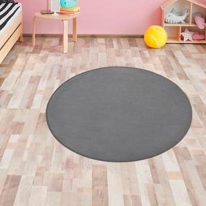 Primaflor-Ideen in Textil Kinderteppich SITZKREIS, rund, 5 mm Höhe, Spielteppich ideal im Kinderzimmer Ø 200 cm, 1 St. grau Kinder Spielteppiche Kinderteppiche Teppiche