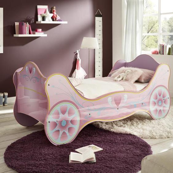 Prinzessinbett, für kleine Prinzessinen 90x200 cm Höhe Bettseite: 26 cm, ohne Matratze lila Kinder Kinderbetten Kindermöbel Betten