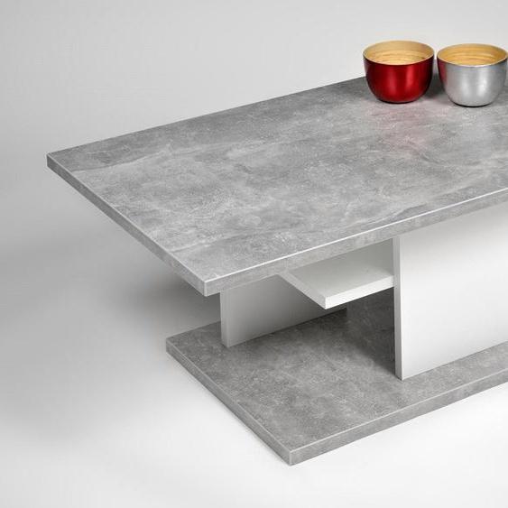PRO Line Couchtisch, mit Ablageboden B/H/T: 107 cm x 43 67 weiß Couchtische eckig Tische Couchtisch