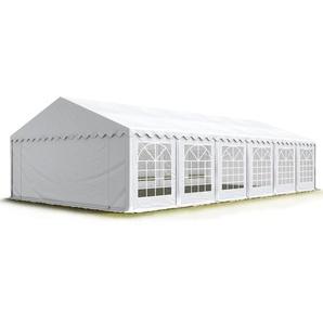 Partyzelt 6x12m PVC 500 g/m² weiß wasserdicht Gartenzelt, Festzelt, Pavillon - PROFIZELT24