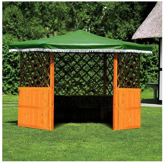 promadino Holzpavillon »Marburg«, (Set), BxT: 309x309 cm, inkl. Brüstung