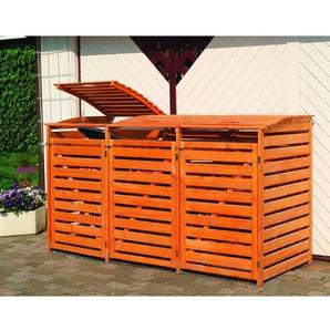Mülltonnenbox Vario III für 3 Tonnen Braun