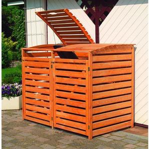 Mülltonnenbox Vario III für 2 Tonnen Honigfarben