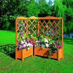 promadino Spalier, mit Pflanzkasten, BxTxH: 69x32x140 cm B/H/T: 69 x 140 32 braun Spalier Spaliere Gartendekoration Gartenmöbel Gartendeko