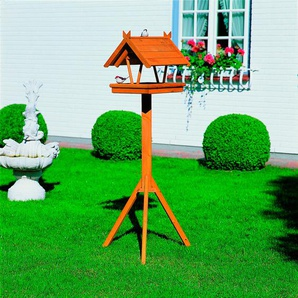 promadino Vogelhaus Rhön, BxTxH: 36x41,5x141 cm, mit Standbein B/H/T: 36 cm x 141 41,5 braun Vogelhäuser Vogeltränken Gartendekoration Gartenmöbel Gartendeko