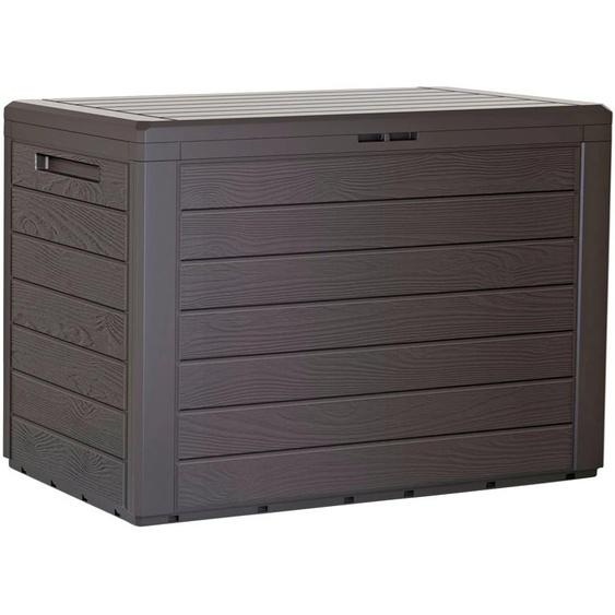 Prosperplast Auflagenbox Boxe Board B/H: 116,6 cm x 59,5 braun Garten- Kissenboxen Gartenmöbel Gartendeko
