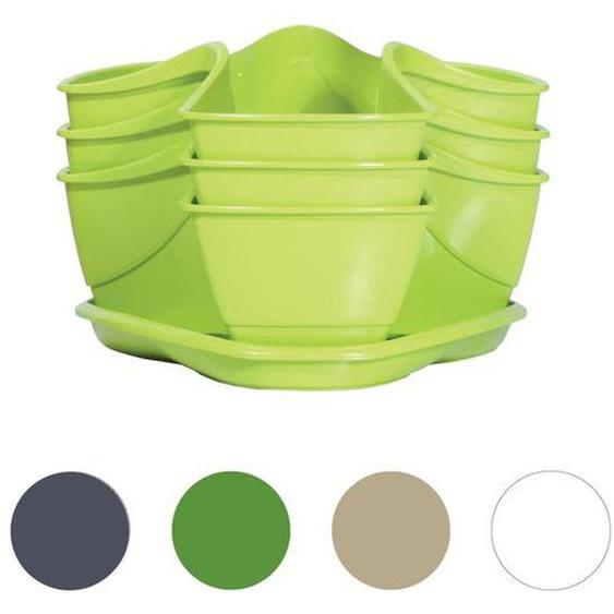 Prosperplast Kräuterampel »Coubi Herbal«, 3-stöckig, Kunststoff, mit Wasserspeicher