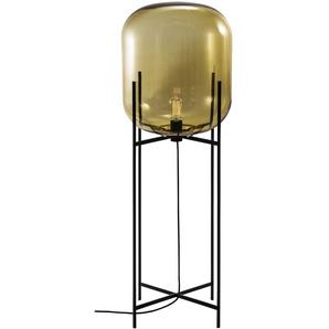 Pulpo - Oda Big Stehleuchte - Glas amber, Untergestell schwarz - indoor
