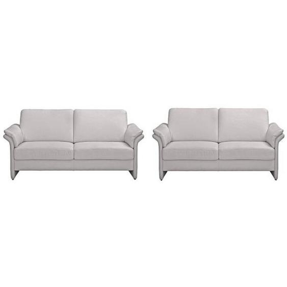 Pure Home Comfort Sitzgarnitur Mikrofaser Grau , Textil , 172x85x89 cm
