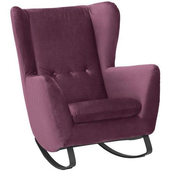 Pure Home Lifestyle Schaukelsessel Velours , Lila , Textil , 82x109x93 cm