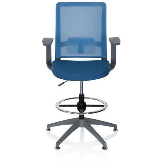 PURE WORK GREY - Arbeitsstuhl Arbeitshocker Blau