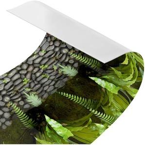Hart-Kunststofffolie Spritzschutzpaneel Steinwand Mit Pflanzen Arkins