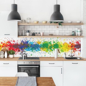 PVC Spritzschutzpaneel Azucena Rainbow Splatter