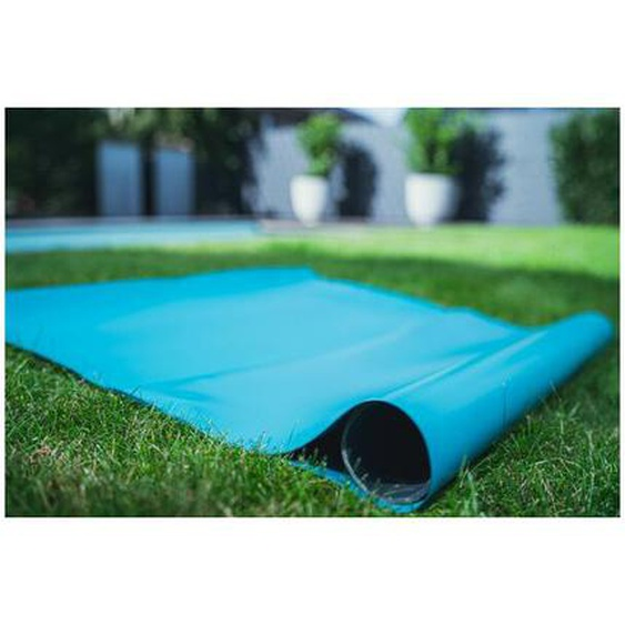 PVC Teichfolie blue (türkisblau) in einer Stärke von 1.00 mm, Maß: 14 x 25 m.