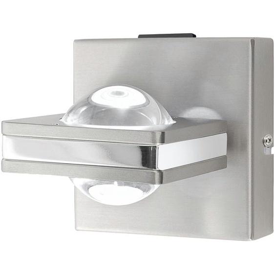 Q-Smart Home Lights Wandleuchte, 2-flammig, Nickel matt ¦ silber