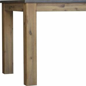 Quadrato Esstisch »Panama«, aus Akazienholz mit Betonoptik auf der Tischplatte, in zwei verschiedenen Größen