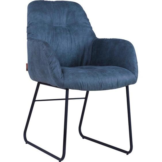 Quadrato Polsterstuhl Easton Microfaser grün Stapelstühle Stühle Sitzbänke