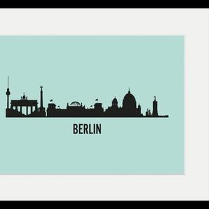 queence Bild Berlin Skyline, Städte, (1 St.) B/H: 40 cm x 30 cm, Wandbild blau Kunstdrucke Bilder Bilderrahmen Wohnaccessoires