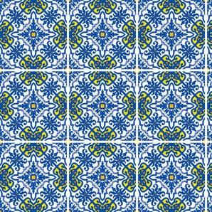 queence Fliesenaufkleber Muster II B/H/T: 15 cm x 0,1 bunt Wandtattoos und Wandsticker Wohnaccessoires