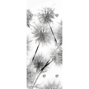 queence Garderobenpaneel Blüte 0, 50x10x125 cm grau Garderobenpaneele Garderoben