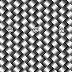 Garderobenpaneel Flechtmuster 0, (B/H): 50/125 cm, 50x125 cm grau Garderobenpaneele Garderoben