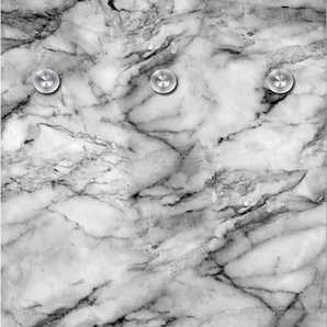 Garderobenpaneel Marmor 0, (B/H): 50/125 cm, 50x125 cm grau Garderobenpaneele Garderoben