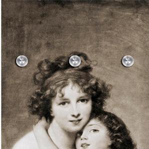 Garderobenpaneel Mutter und Kind 0, (B/H): 50/125 cm, 50x125 cm grau Garderobenpaneele Garderoben