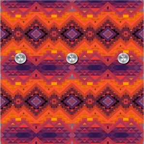 queence Garderobenpaneel Orientalisches Muster, mit 6 Haken, 50 x 120 cm B/H/T: 10 orange Garderobenpaneele Garderoben