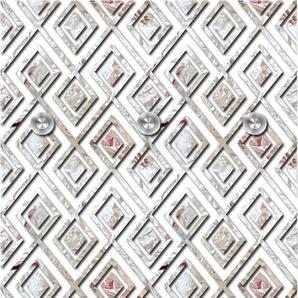 Garderobenpaneel Rauten 0, (B/H): 50/125 cm, 50x125 cm grau Garderobenpaneele Garderoben