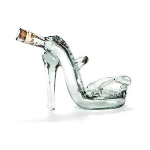 Queence  Leinwandbild  »Glasflasche in S«, weiß