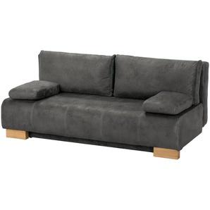 Querschläfer  grau - Mikrofaser Hanno ¦ grau ¦ Maße (cm): B: 194 H: 86 T: 90 Polstermöbel  Sofas  2-Sitzer » Höffner
