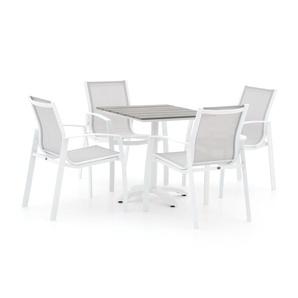 R&S Design Altea/Lisio 70 cm Esstischgruppe 5-teilig stapelbar