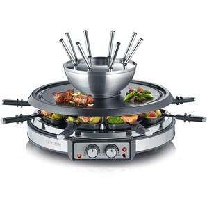 Raclette-Grill und Fondue-Set RG 2348, silber, Severin